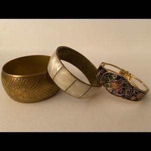 Vintage trio bangle bracelets